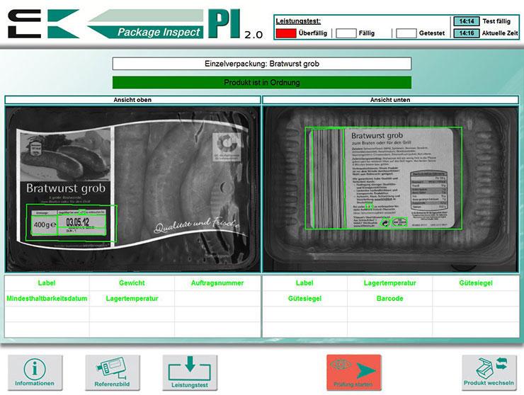 Verpackungskontrolle Verifizierung Barcode, Etiketten, Artikel-Nummern, MHD
